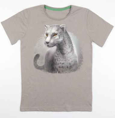 Серый леопард, Футболка мужская св. коричневый 180гр