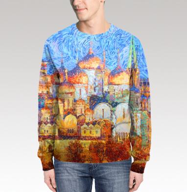 Свитшот мужской 3D - Соборы Московского Кремля