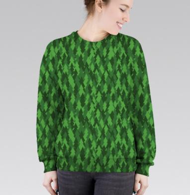 Хвойный лес, Cвитшот женский 3D