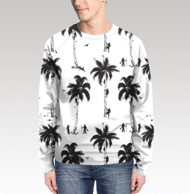 Свитшот мужской без капюшона (полная запечатка) - Сборщики кокосов