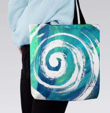 Сумка с полной запечаткой - Голубая спираль