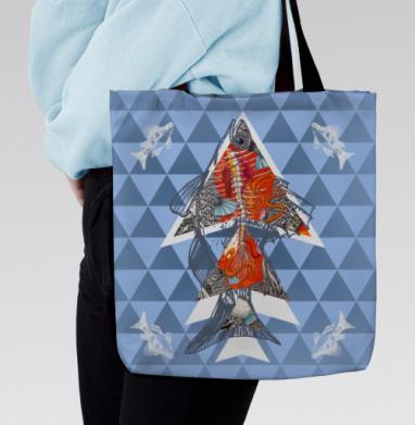 Анатомическая рыба-треугольник, Сумка с полной запечаткой