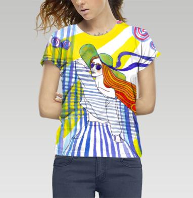 Футболка женская c полной запечаткой - Солнце Море Кайф