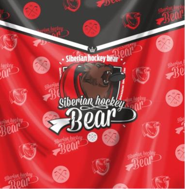Сибирский хоккейный медведь - Печать на текстиле, новинки