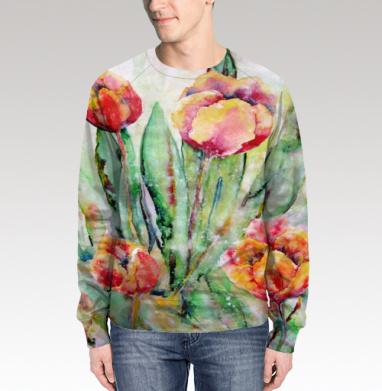 Тюльпаны. Жаркий полдень, Свитшот мужской 3D