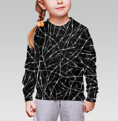 Колючая проволка, Cвитшот детский без капюшона (полная запечатка)