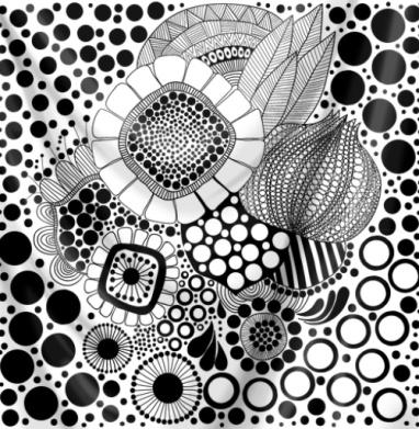 Флорал дудл - Печать на текстиле