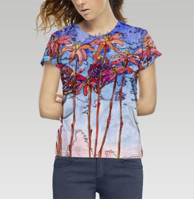 Футболка женская c полной запечаткой, полная запечатка - Интернет магазин футболок №1 в Москве