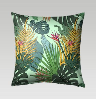 Листья цветы тропики - Подушки с принтом