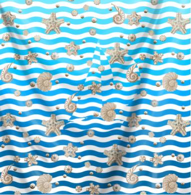 Волны и ракушки - морская, Популярные
