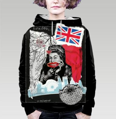 LONDONQUEEN, Толстовка женская с карманом 3D