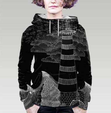 Маяк бури, Толстовка женская с карманом 3D