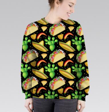 Cвитшот женский без капюшона (полная запечатка), полная запечатка - Футболки на заказ в Москве
