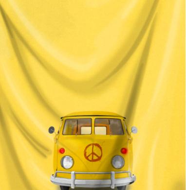 Хиппи Автобус - Печать на текстиле