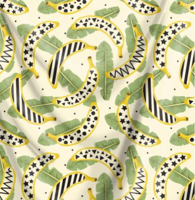 Арт бананы и листья - лето, Популярные