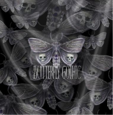 Бабочка готика - Череп