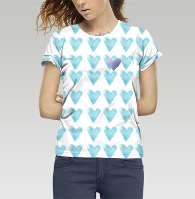 Голубое сердце, Футболка женская 3D