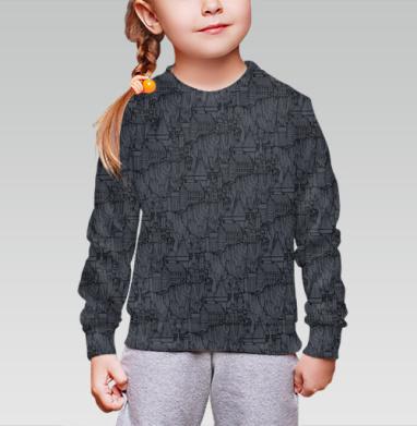 Хог , Cвитшот детский без капюшона (полная запечатка)