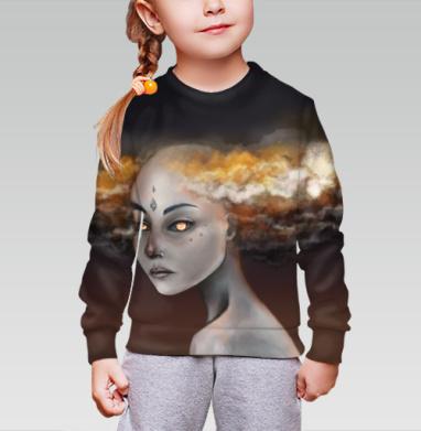 Штормовой элементаль, Cвитшот детский без капюшона (полная запечатка)