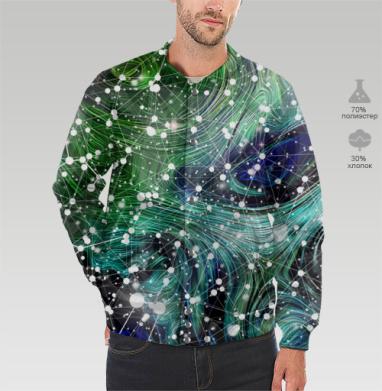 Обитаемый космос. Созвездия., Бомбер мужской 3D