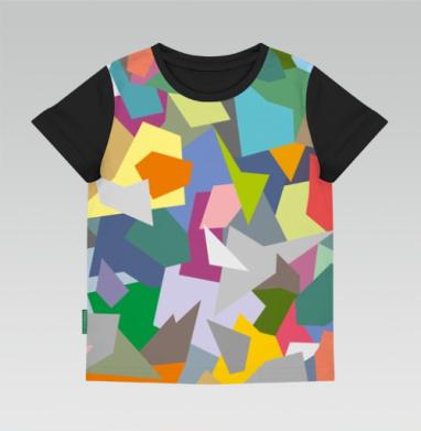 БЕЗ ПРИНТА - Купить футболки детские 3D v2 с хлопоковыми рукавами на заказ в интернет-магазине Мэриджейн в Москве