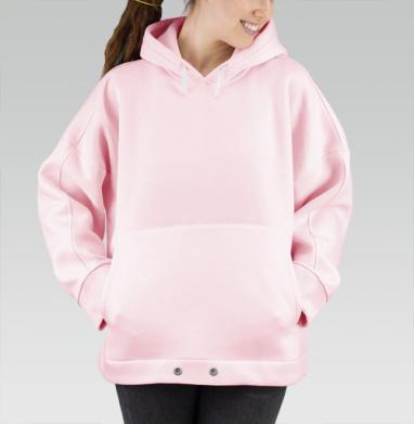 БЕЗ ПРИНТА - Розовые худи оверсайз 🎀 купить в Москве | Худи женские оверсайз розового цвета с принтами и надписями в интернет-магазине Maryjane по лучшей цене