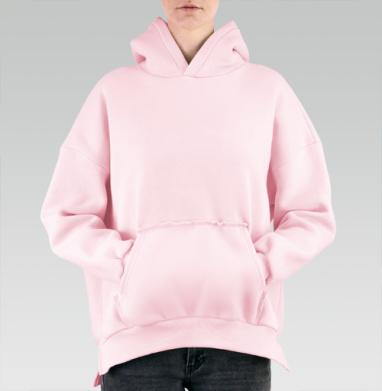 БЕЗ ПРИНТА - Hoodie Mjhigh Pink, утепленная купить в Москве | Теплые худи розового цвета с принтами и надписями в интернет-магазине Maryjane по лучшей цене