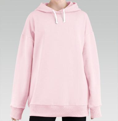 БЕЗ ПРИНТА - Женские удлиненные худи розового цвета купить в Москве   Худи розовые женские с принтами и надписями в интернет-магазине Maryjane по лучшей цене