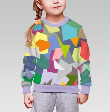 БЕЗ ПРИНТА - Cвитшот детский для девочки 3D фиолет.