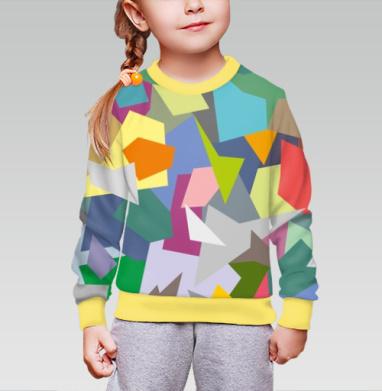 БЕЗ ПРИНТА - Cвитшот детский для девочки 3D желт.