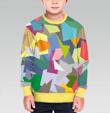 БЕЗ ПРИНТА - Cвитшот детский для мальчика 3D желт