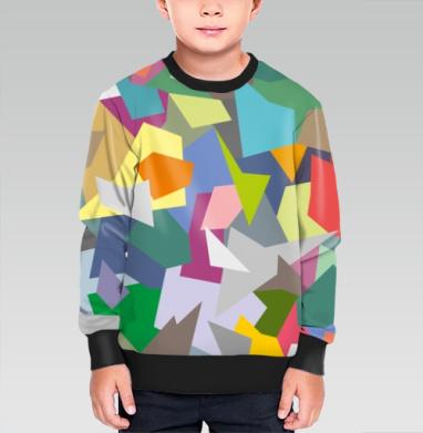 БЕЗ ПРИНТА - Cвитшот детский для мальчика 3D черн
