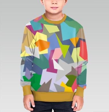 БЕЗ ПРИНТА - Cвитшот детский для мальчика 3D темн. желт.