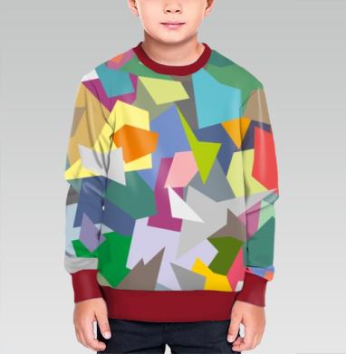 БЕЗ ПРИНТА - Cвитшот детский для мальчика 3D борд.