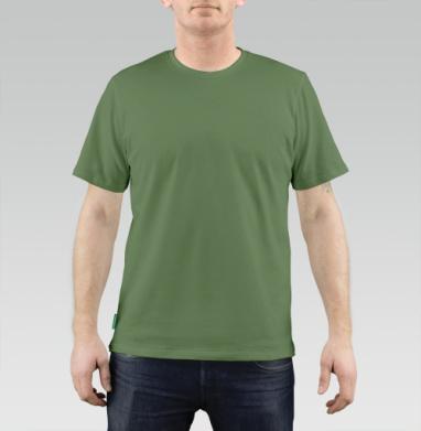 БЕЗ ПРИНТА - Футболка мужская REGULAR оливковый