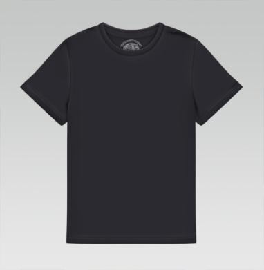 БЕЗ ПРИНТА - Детская футболка чёрная
