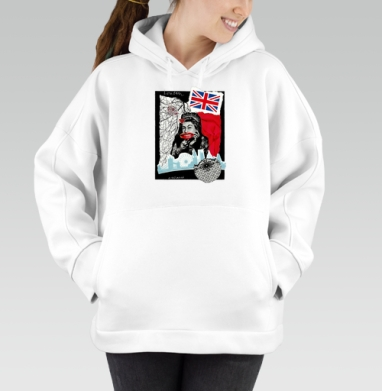 LONDONQUEEN, Hoodie Oversize White