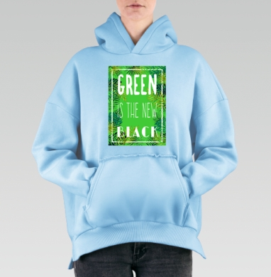 Green is the new black, Hoodie Mjhigh Blue, утепленная