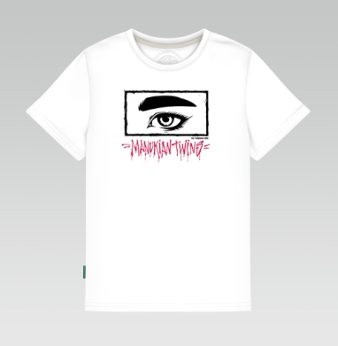 Manukian Twins Eye , Детская футболка белая 160гр