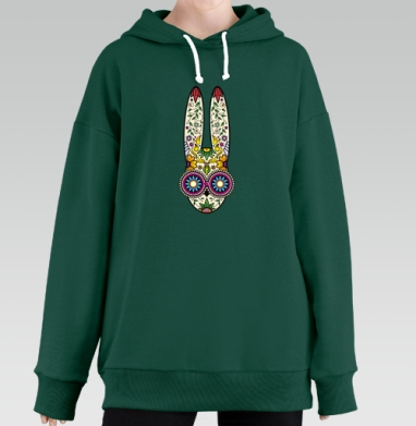 Day of the Dope, Hoodie Long Oversize Green