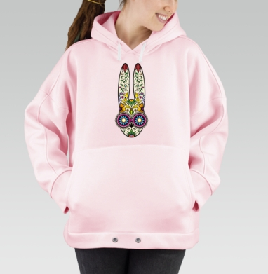 Day of the Dope, Hoodie Oversize Pink, утепленная
