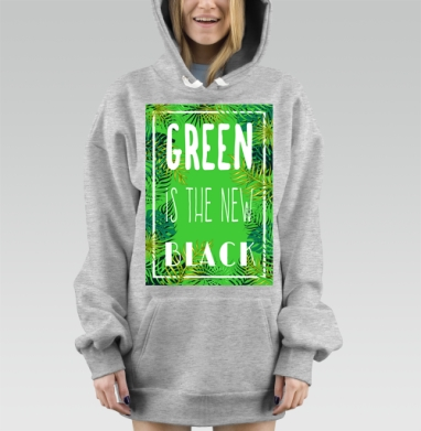 Green is the new black, Hoodie Mjhigh Dig Mel, утепленная