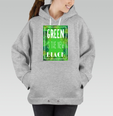 Green is the new black, Hoodie Oversize Mel, утепленная